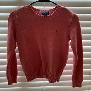 vintage polo pink women's sweater
